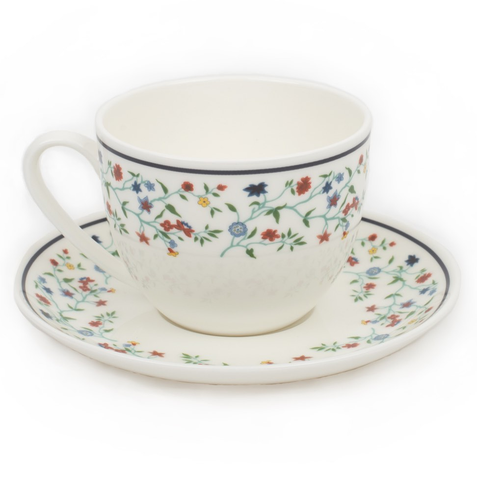 Smith College Maytime China pattern teacup and saucer