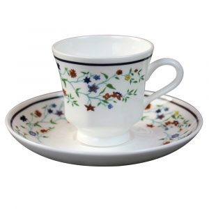 Smith College Maytime China pattern espresso cup & saucer
