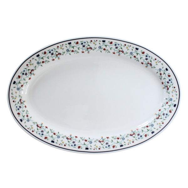 """Smith College Maytime China pattern 14"""" oval platter"""